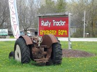 Rusty Tractor  Breakfast Barn